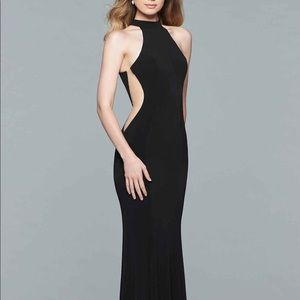 Faviana 7943 Black Prom Dress